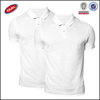 603dae25 wholesales 2 pack slim fit plain white pique blank polo t-shirts for men