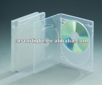 14mm Double Smooth Clear DVD Case with insert
