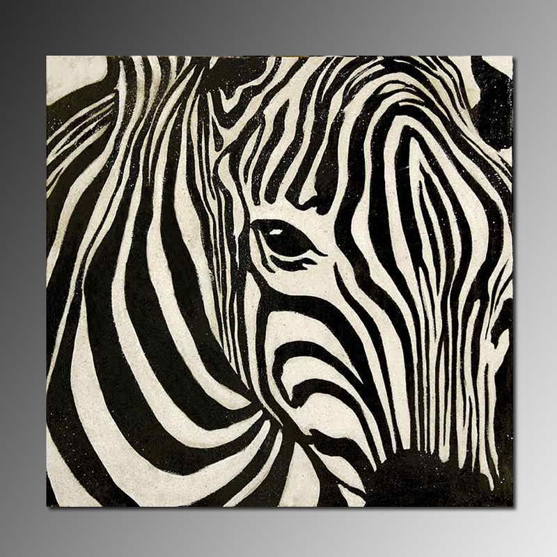 Te negro y blanco a rayas de cebra cara pintura realista ...