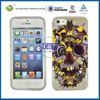 New Retro Vintage Design new tpu transparent phone case for iphone5