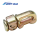 Yellow Zinc Plated L Track Double Stud Fitting with O Ring