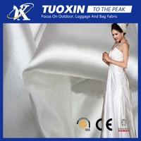 wedding night gown satin fabric /100% polyester brocade fabric wedding dress