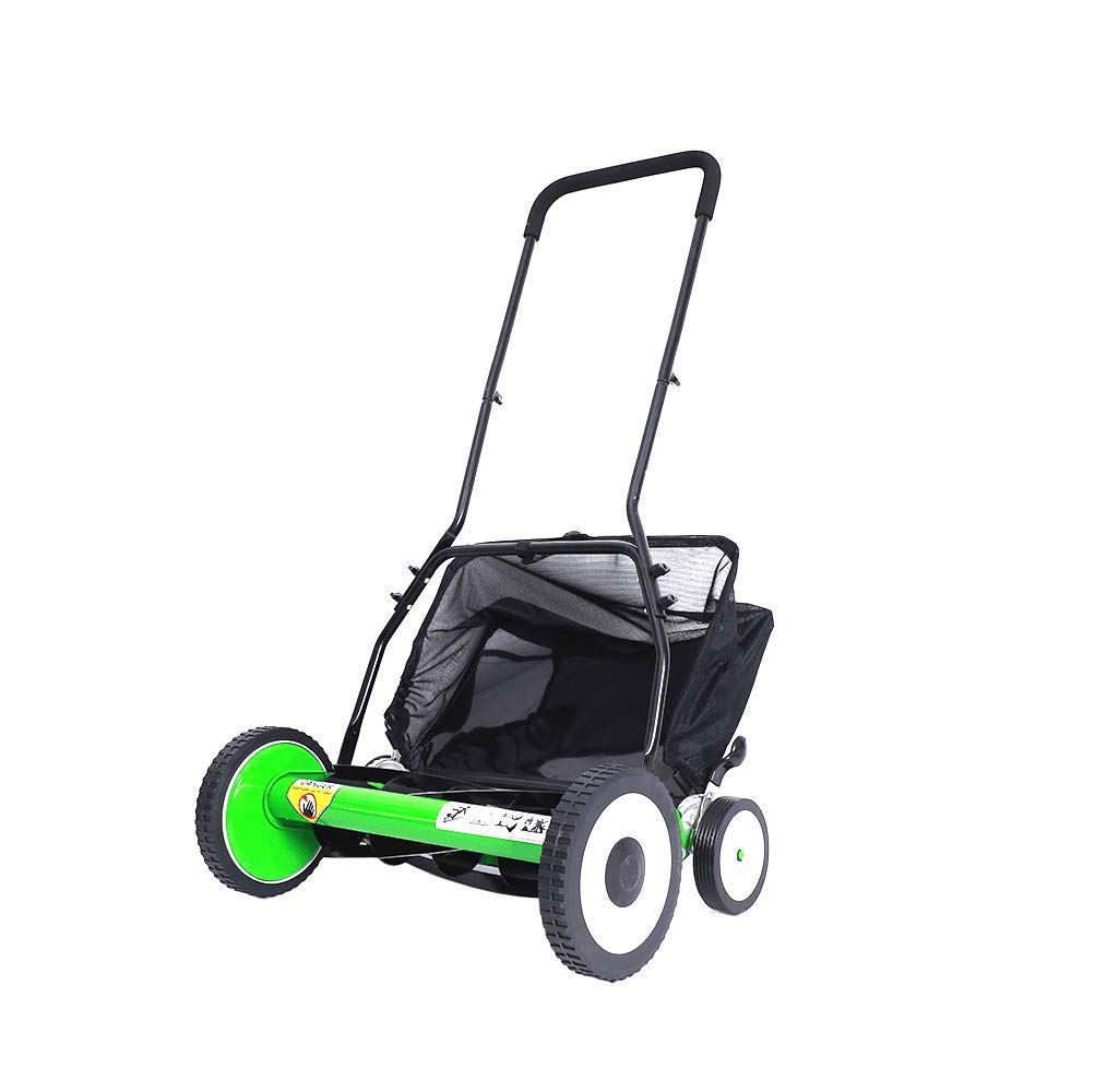 Get Quotations · Push Lawn Mower,20-Inch Manual Reel Mower With Grass  Catcher