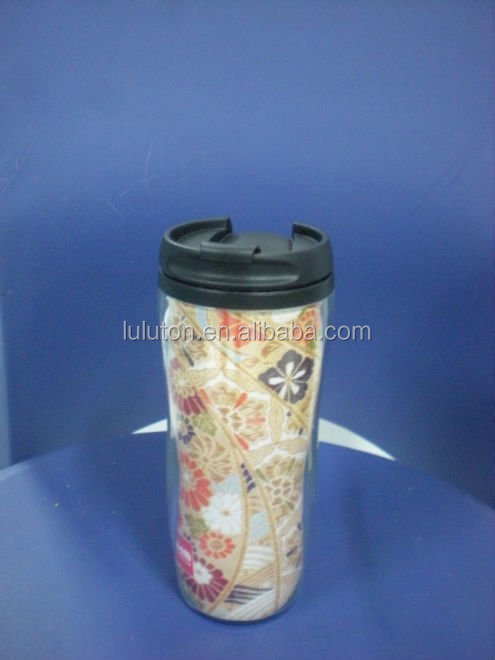 The Best Coffee Travel Mug plastic 16oz coffee mugs double wall PP coffee tumbler