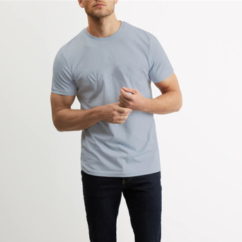 Plain men gym sport tight fit stretch 50 polyester 25 cotton 25 rayon t shirt/mens plain t shirt/cut and sew t-shirt custom
