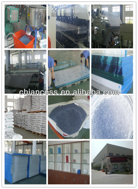 Bayer Polycarbonate Hollow Sheet twin triple layer PC structure sheets factory