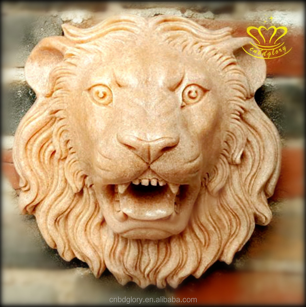 Stone Lion Head Wall Fountain, Stone Lion Head Wall Fountain ...