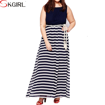 Latest Casual Fat Women Holiday Loose Wear Patchwork Stripe Plus Size Maxi  Dress For Fat Ladies - Buy Plus Size Maxi Dress For Fat Ladies,Fat Women ...