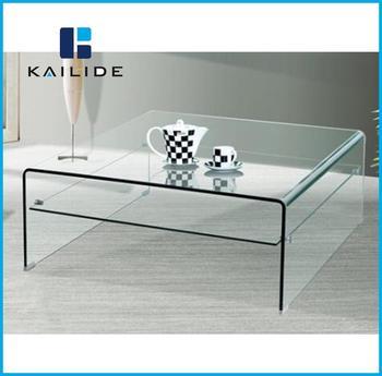 New Design Unique Small Size Glass Tea Table Center Coffee Table