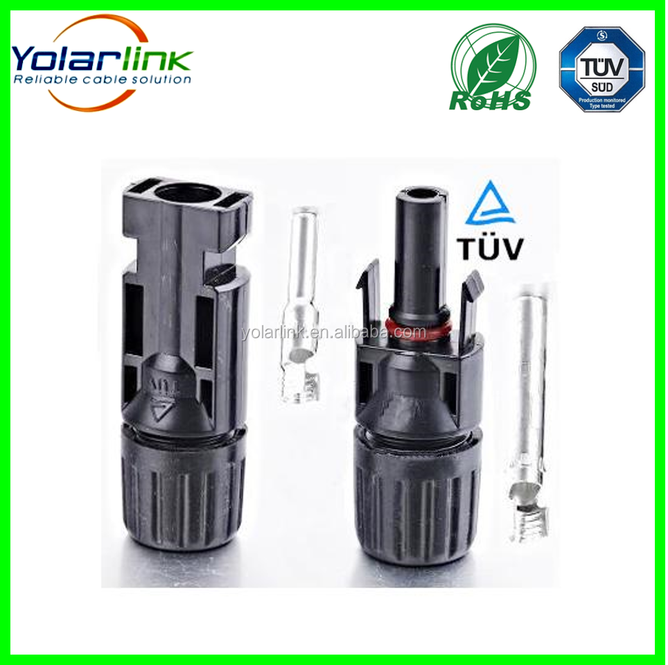 TUV IP67 MC4/MC4 T/MC4 Y Solar Connector 10mm DC Cable (Male+Female) 2.5/4/6/10 mm2 For Solar Panel /Solar Energy System