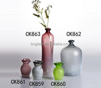 Handmade Art Glass Decorative Modern Garden Glass Flower Vases Halloween decoration