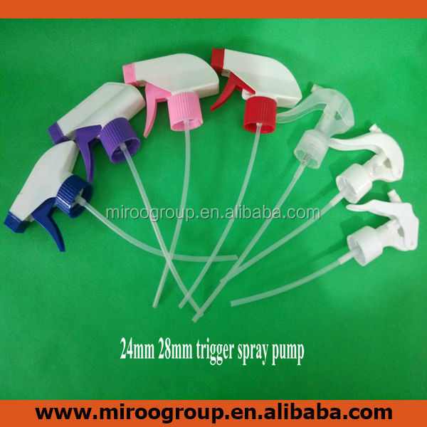 Plastic hand mini trigger sprayer, 24mm 28mm spray trigger