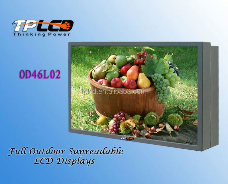 46 inch lcd screen monitor Dual sides built-in PC lcd ip65 outdoor cheap LCD TV