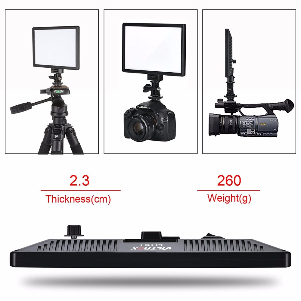 Hot Sale Photography Portable Bi-color 3300k-5600k Dimmable Viltrox L116T Soft LED Studio Photo Light