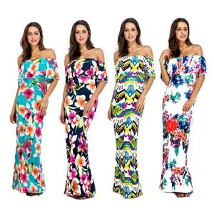 14Colors Wholesale Factory price african kitenge design african traditional print ankara sexy maxi dress