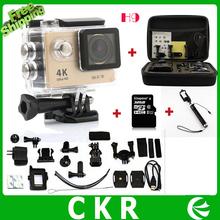 EKEN H9 Action camera Ultra HD 4K WiFi 1080P/60fps 2.0 LCD 170 lens Helmet Cam waterproof camera Battery +bag+monopod