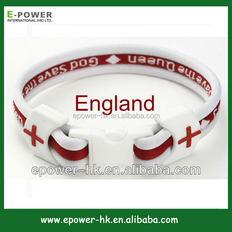 Approved England plastic waist bands,popular custom logo world cup bracelet,bestselling jewelry football bracelet