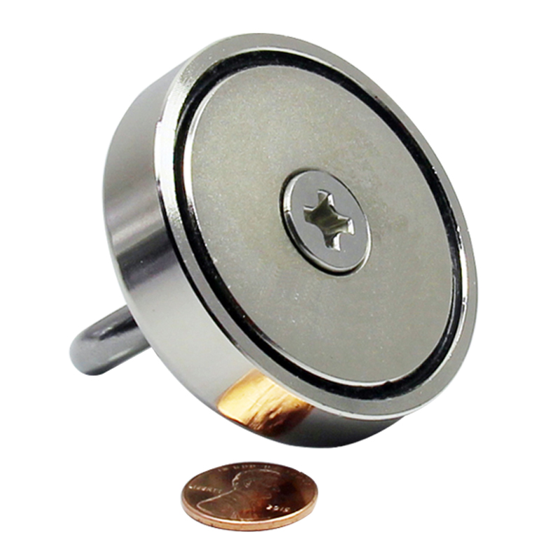 Factory wholesale Strong Permanent NdfeB Magnetic Fishing Hook Pot Magnet 250lbs with eyebolt