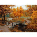 Frameless Autumn Landscape DIY Painting By Numbers Kits Drawing Painting By Numbers Acrylic Paint On Canvas