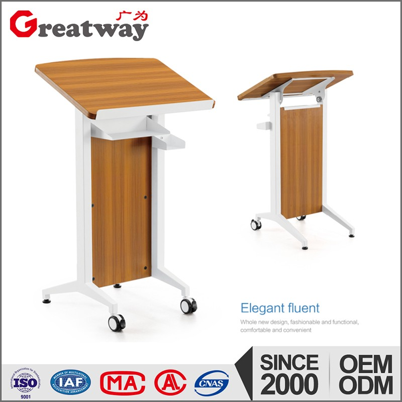 Hot sale steel frame folding table for training room podium desk