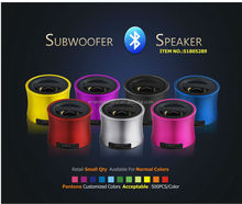 Portable subwoofer mini music car speaker with rechargeable battery