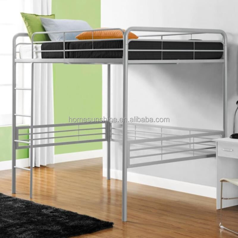 metal loft bed metal loft bed suppliers and manufacturers at alibabacom - Metal Frame Loft Bed