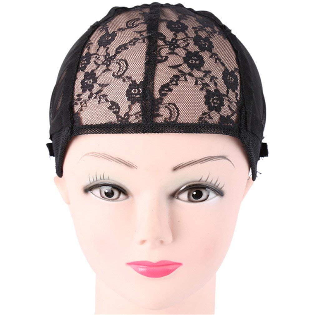 Tools & Accessories Humorous 1 Pcs Double Lace Wig Caps For Making Wigs And Hair Weaving Stretch Adjustable Wig Cap Hot Black Dome Cap For Wig Hair Net With The Best Service