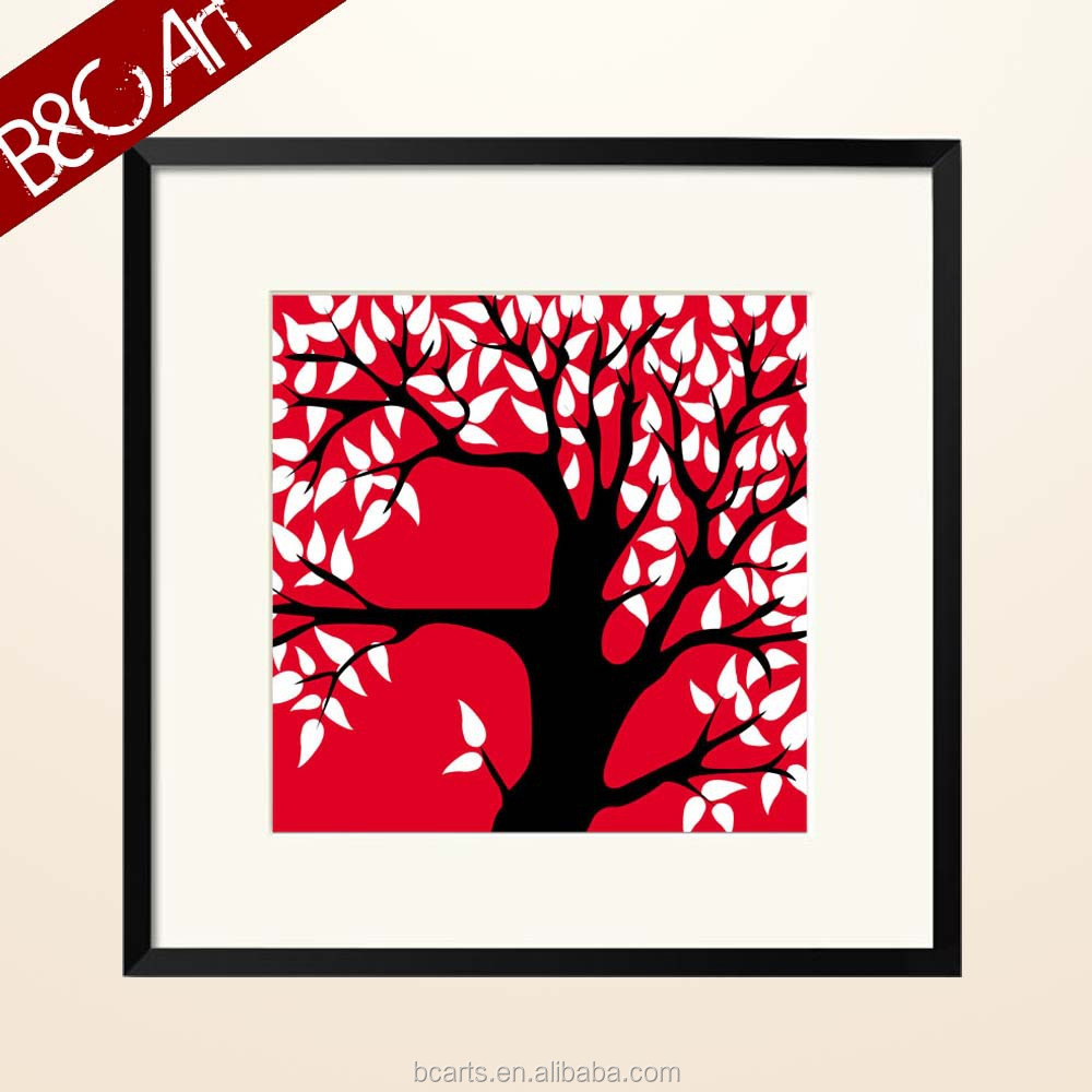 DIY digital tree painting house interior decoration pictures famous abstract art