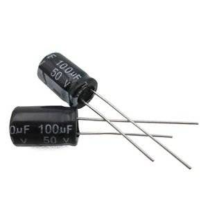 50pcs 100uF 50V 105C Radial Electrolytic Capacitor 8x12MM