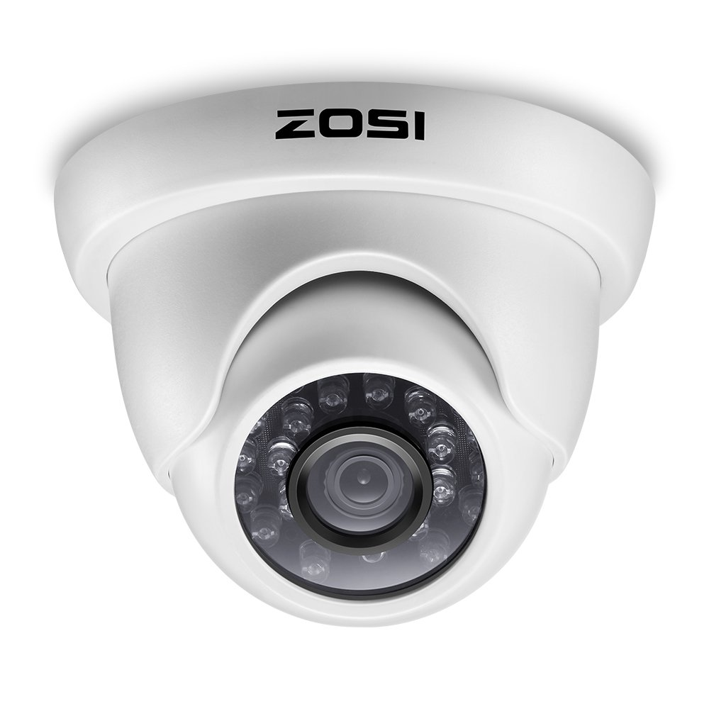 0133b8c29d980 Get Quotations · ZOSI 800TVL CCTV Camera 24 IR LEDs Indoor outdoor Day Night  Vision 65ft Security Dome Color