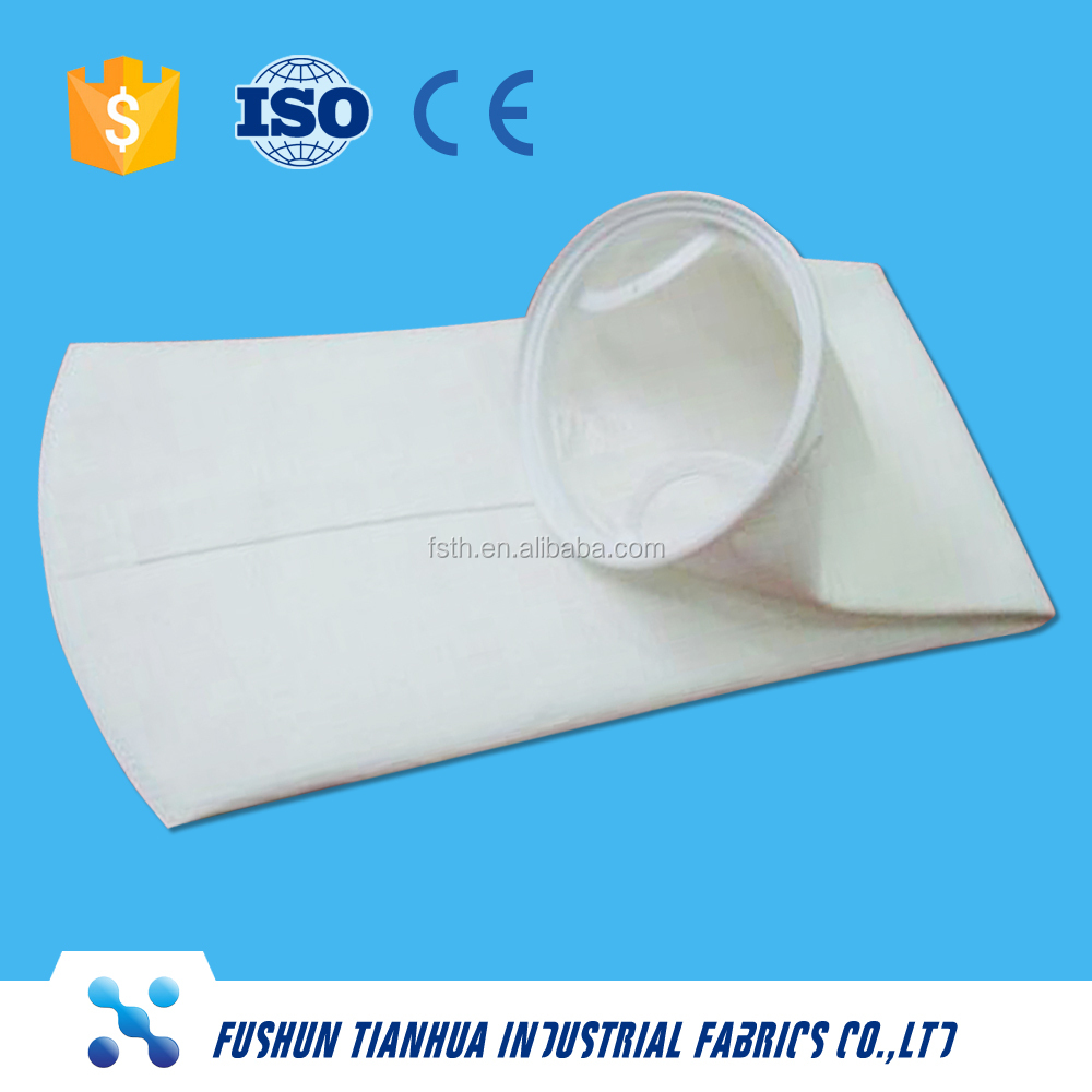 Polyester punched felt liquid filter bags for solid-liquid separation