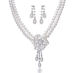 vogue style cheap necklace and earrings sets ,pearl bridal jewelry sets,heavy indian bridal jewelry sets
