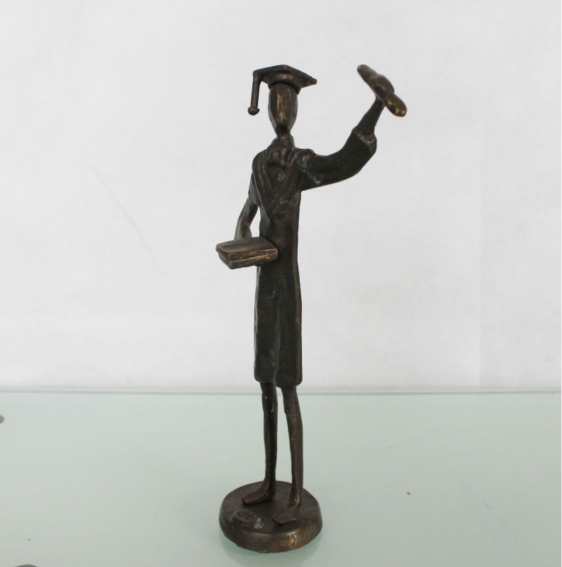 cast iron metal art sculpture for home decoration the doctor figures