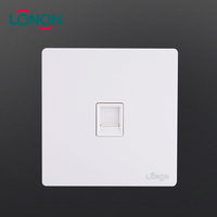 Quality assured Metal back internet Cat6 RJ45 Data 1 Gang wall plug computer socket