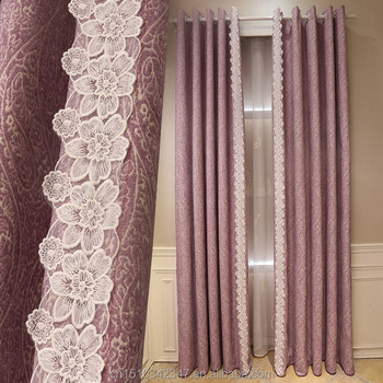 Purple Lace New Styles Of Curtains Simple Curtain Design