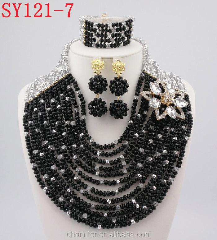 Latest Design Nigeria Bridal Beads Jewelry Sets African Custom ...