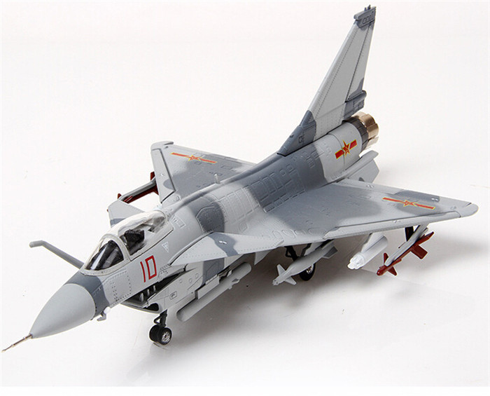 1:72 scale alloy airplane moedel J-10 alloy aircraft military model for business gift