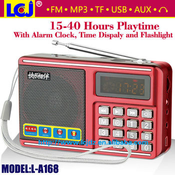 L-a168 Fm Radio Alarm Clock Speaker With Alarm Clock