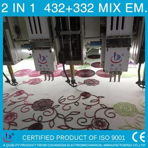 432+332 MIXED USED EMBROIDERY MACHINE PICTURE,MULTIHEAD EMBROIDERY MACHINE