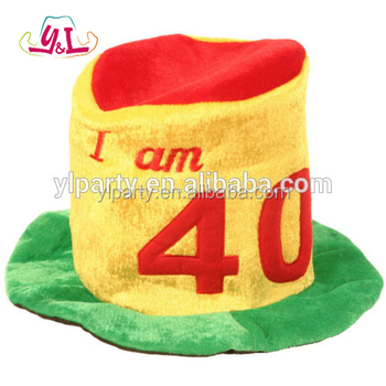 New Premium Party Supplies Birthday 40th Hat Fancy Dress Novelty Silly Fun
