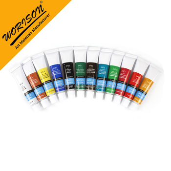 worison oem 12ml watercolor paints artist grade watercolor painting tube for sale