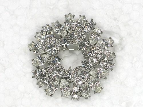 Get Quotations · Clear Rhinestone Brooch,Fashion Brooch,brand Brooch,Bride  Bridesmaid Wedding Prom Party Crystal