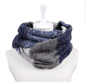 Eternity Loop Style Thick Infinity 2 Circle Double Color Wraps Scarf