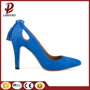 47f1b1d50771 2018 Chengdu wholesale latest new design blue genuine leather sexy women  12cm high heel shoes with