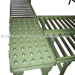 Conveyor Roller With Tables Of Beads