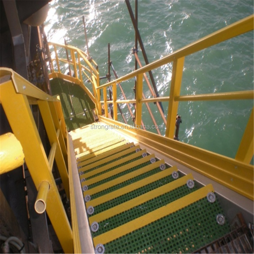 Anti-slip Frp Grating With Stair Nosing