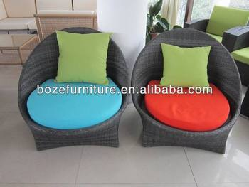 Muebles de jard n exterior tejer mimbre sof tapizado de - Muebles de mimbre para jardin ...