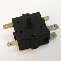 Towei switch supplier 16A -250V t125 5 pin 4 4 position rotary switch for fan
