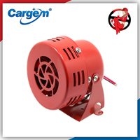 Cargem Horns Loud 110dB Electric Motor Driven Security Horn Vehicle Loud Siren/Alarm/Siren Small/Compact Red 12V