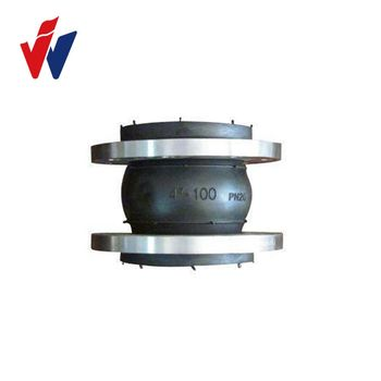 Vulcanized JGD Type Single Sphere EPDM rubber flexible joint with Galvanized Flange